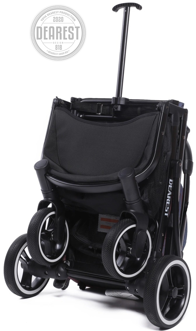Прогулочная коляска Yoya Dearest 818 Plus Black в сложенном состоянии