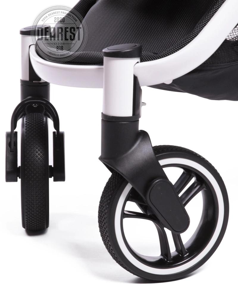 Прогулочная коляска Yoya Dearest 818 Plus Black передние колеса поворотные
