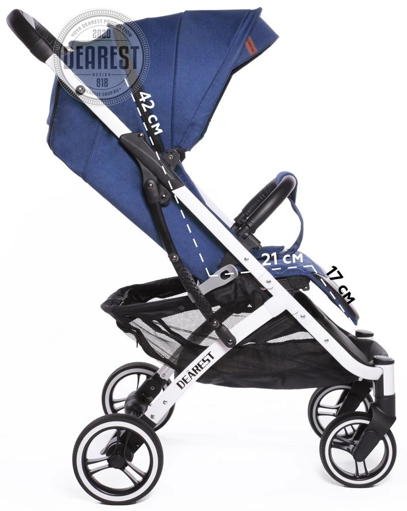 Прогулочная коляска Yoya Dearest 818 Plus Black размеры сидячего места